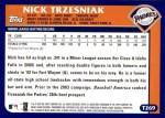 2003 Topps Traded #269 T  -  Nick Trzesniak First Year Back Thumbnail
