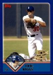2003 Topps Traded #205 T  -  Eric Riggs First Year Front Thumbnail