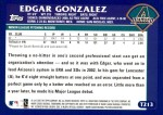 2003 Topps Traded #213 T  -  Edgar Gonzalez First Year Back Thumbnail