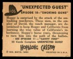 1950 Topps Hopalong Cassidy #105   Smoking guns Back Thumbnail