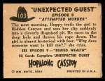 1950 Topps Hopalong Cassidy #103   Attempted murder Back Thumbnail