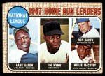 1968 Topps #5   -  Hank Aaron / Willie McCovey / Ron Santo / Jim Wynn NL HR Leaders Front Thumbnail