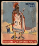 1947 Goudey Indian Gum #17   Chief Of The Osages Tribe Front Thumbnail