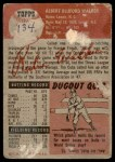 1953 Topps #134  Rube Walker  Back Thumbnail