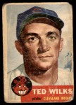 1953 Topps #101  Ted Wilks  Front Thumbnail