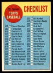 1963 Topps #509 RGT  Checklist 7 Front Thumbnail