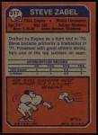 1973 Topps #317  Steve Zabel  Back Thumbnail