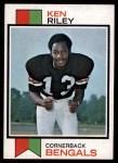 1973 Topps #171  Ken Riley  Front Thumbnail