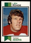 1973 Topps #181  Len Rohde  Front Thumbnail