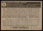 1952 Topps #50  Marv Rickert  Back Thumbnail