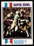 1973 Topps #139   Super Bowl VII Front Thumbnail