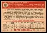 1952 Topps #161 CRM Bud Byerly  Back Thumbnail
