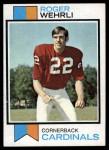 1973 Topps #457  Roger Wehrli  Front Thumbnail