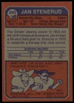 1973 Topps #285  Jan Stenerud  Back Thumbnail