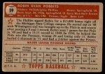 1952 Topps #59  Robin Roberts  Back Thumbnail