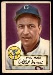 1952 Topps #283  Phil Masi  Front Thumbnail