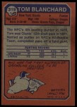1973 Topps #319  Tom Blanchard  Back Thumbnail