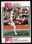 1973 Topps #390  Jake Scott  Front Thumbnail