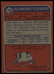 1973 Topps #166  Richmond Flowers  Back Thumbnail