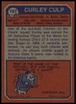 1973 Topps #167  Curley Culp  Back Thumbnail
