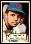 1952 Topps #172 CRM Eddie Miksis  Front Thumbnail