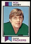 1973 Topps #162  Ron Widby  Front Thumbnail
