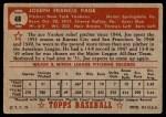 1952 Topps #48 RED Joe Page  Back Thumbnail