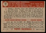 1952 Topps #97  Earl Torgeson  Back Thumbnail
