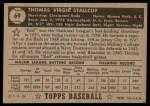 1952 Topps #69  Virgil Stallcup  Back Thumbnail