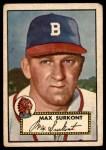 1952 Topps #302  Max Surkont  Front Thumbnail