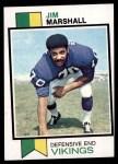 1973 Topps #406  Jim Marshall  Front Thumbnail