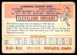 1954 Dan-Dee  Larry Doby  Back Thumbnail
