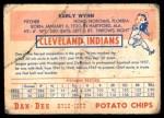 1954 Dan-Dee  Early Wynn  Back Thumbnail