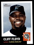 2002 Topps Heritage #34  Cliff Floyd  Front Thumbnail