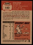 2002 Topps Heritage #142  Kevin Appier  Back Thumbnail