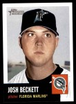 2002 Topps Heritage #91  Josh Beckett  Front Thumbnail