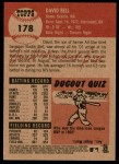 2002 Topps Heritage #178  David Bell  Back Thumbnail