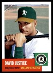 2002 Topps Heritage #148  David Justice  Front Thumbnail
