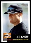 2002 Topps Heritage #112  J.T. Snow  Front Thumbnail