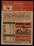 2002 Topps Heritage #78  Matt Williams  Back Thumbnail
