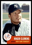 2002 Topps Heritage #6  Roger Clemens  Front Thumbnail