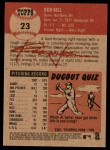 2002 Topps Heritage #23  Rob Bell  Back Thumbnail