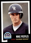 2002 Topps Heritage #119  Mike Peeples  Front Thumbnail