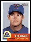 2002 Topps Heritage #8  Alex Gonzalez  Front Thumbnail