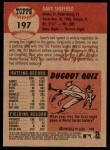 2002 Topps Heritage #197  Gary Sheffield  Back Thumbnail