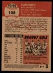 2002 Topps Heritage #108  Danny Graves  Back Thumbnail