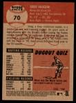 2002 Topps Heritage #70  Greg Vaughn  Back Thumbnail