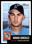 2002 Topps Heritage #184  Adrian Gonzalez  Front Thumbnail