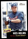 2002 Topps Heritage #33  Wes Helms  Front Thumbnail