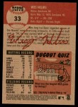 2002 Topps Heritage #33  Wes Helms  Back Thumbnail